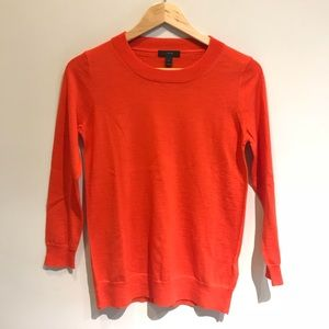 J. Crew   100% Merino Wool Orange Sweater Soft